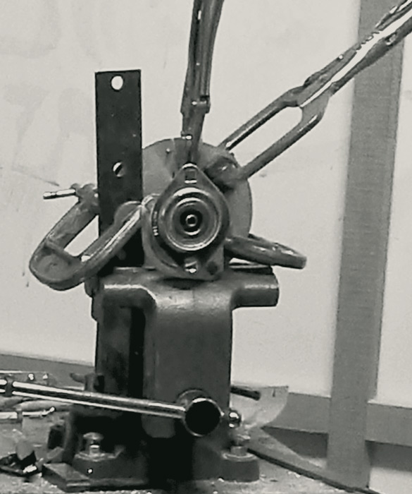 attaching pulley to the output shaft.