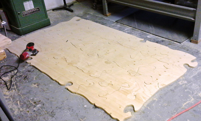 wooden jigsaw puzzle process